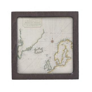 Antique Map of Scandinavia 2 Gift Box