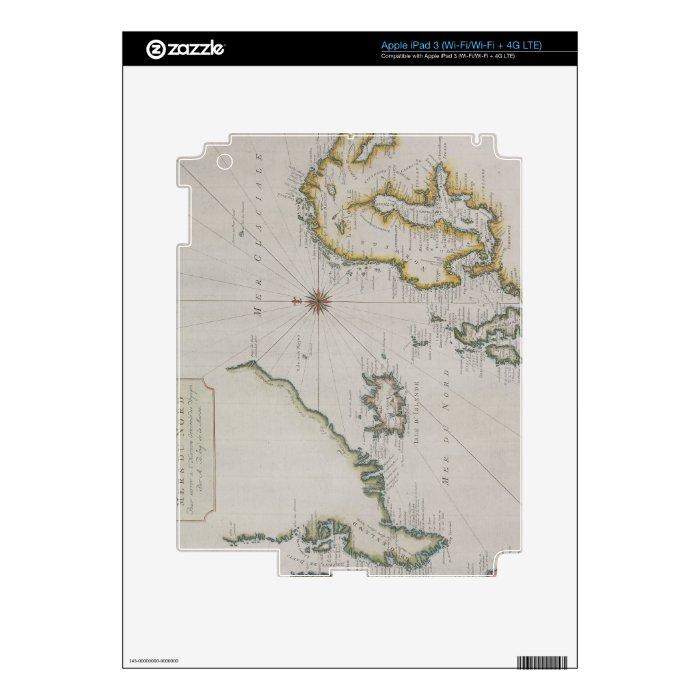 Antique Map of Scandinavia 2 iPad 3 Skins