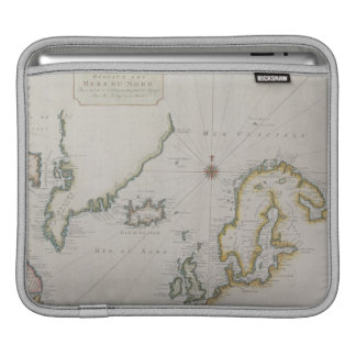 Antique Map of Scandinavia 2 Sleeves For iPads