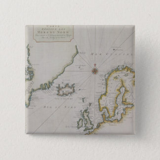 Antique Map of Scandinavia 2 Pinback Button