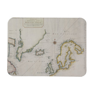 Antique Map of Scandinavia 2 Rectangle Magnets