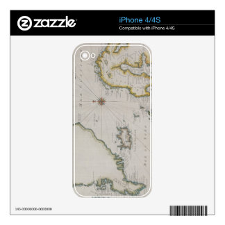 Antique Map of Scandinavia 2 Skins For The iPhone 4