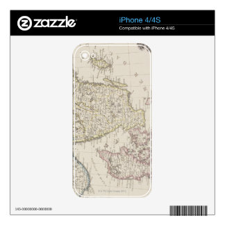 Antique Map of Scandinavia Decals For iPhone 4S
