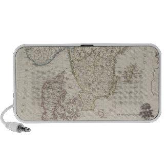 Antique Map of Scandinavia Travelling Speaker