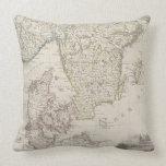 Antique Map of Scandinavia Throw Pillow