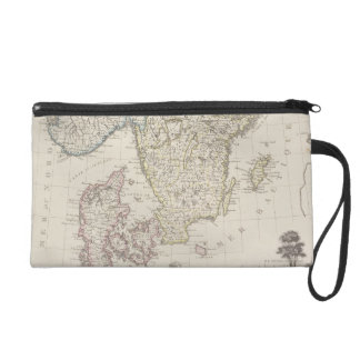 Antique Map of Scandinavia Wristlet