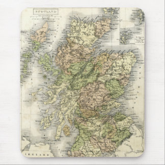 Antique map of Scotland Mouse Pad