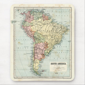 Antique map of South America Mouse Pad