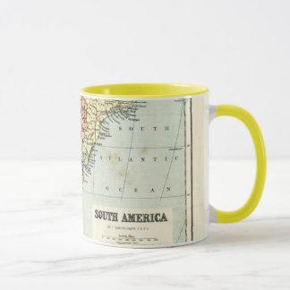 Antique map of South America Mug