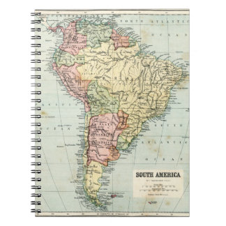 Antique map of South America Notebook