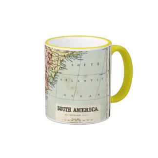 Antique map of South America Ringer Mug