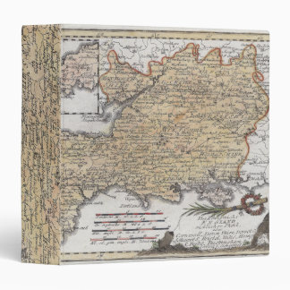 Antique Map of Southern England, Devon, Cornwall Binder