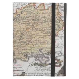 Antique Map of Southern England, Devon, Cornwall iPad Air Cover