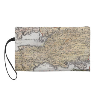 Antique Map of Southern England, Devon, Cornwall Wristlet