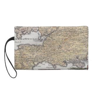 Antique Map of Southern England, Devon, Cornwall Wristlet