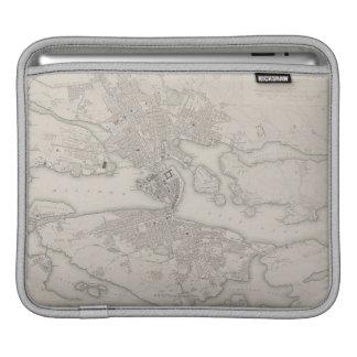 Antique Map of Stockholm, Sweden Sleeve For iPads