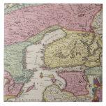 Antique Map of Sweden 2 Large Square Tile