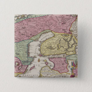 Antique Map of Sweden 2 Pinback Button