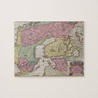 Antique Map of Sweden 2 Puzzles