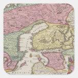 Antique Map of Sweden 2 Square Sticker