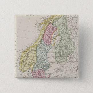 Antique Map of Sweden Button