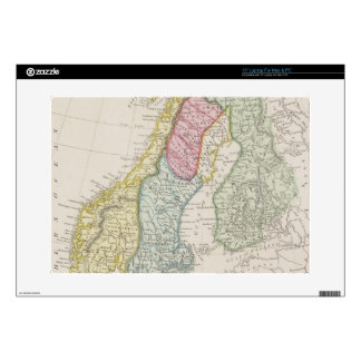 Antique Map of Sweden Decals For Laptops
