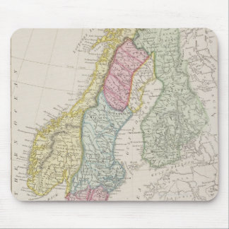 Antique Map of Sweden Mouse Pad