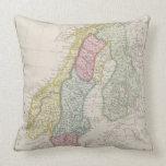 Antique Map of Sweden Pillow