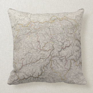 Antique Map of Switzerland Pillows
