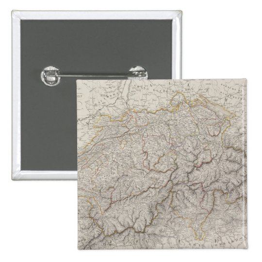 Antique Map of Switzerland Pinback Button