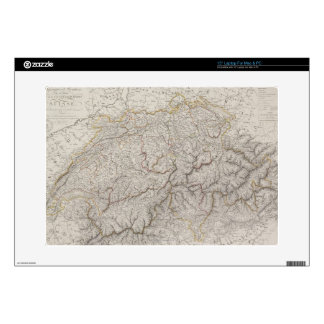 Antique Map of Switzerland Skins For Laptops