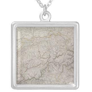 Antique Map of Switzerland Square Pendant Necklace