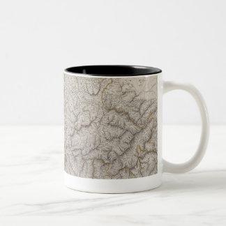 Antique Map of Switzerland Two-Tone Coffee Mug