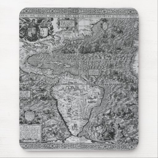Antique Map of the Ancient World Mousepads