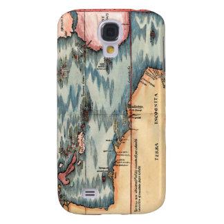 Antique Map of The Atlantic Ocean Samsung Galaxy S4 Case