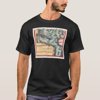 Antique Map of The Atlantic Ocean T-Shirt