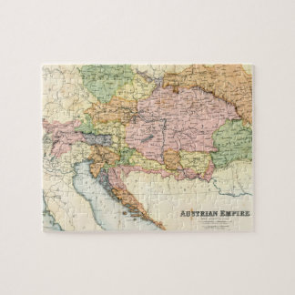 Antique map of the Austrian Empire Jigsaw Puzzle