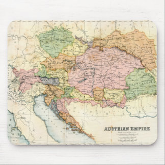 Antique map of the Austrian Empire Mouse Pad