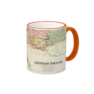 Antique map of the Austrian Empire Ringer Mug