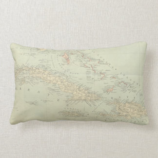 Antique Map of the Bahama Islands Lumbar Pillow