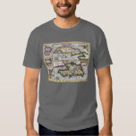 Antique Map of the Caribbean T-Shirt, Islands T Shirts