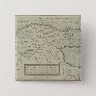 Antique Map of the Holy Land Button