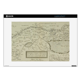 Antique Map of the Holy Land Decals For Laptops