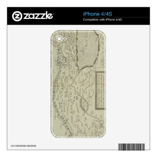 Antique Map of the Holy Land iPhone 4S Decals