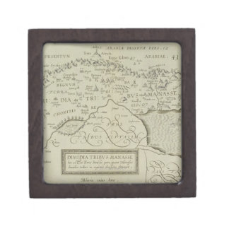 Antique Map of the Holy Land Jewelry Box
