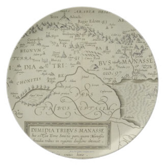 Antique Map of the Holy Land Melamine Plate
