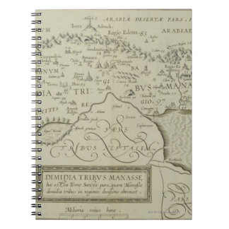 Antique Map of the Holy Land Spiral Notebooks