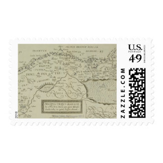 Antique Map of the Holy Land Postage Stamp