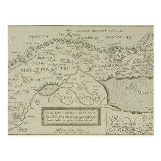 Antique Map of the Holy Land Post Cards