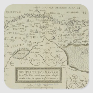 Antique Map of the Holy Land Square Sticker